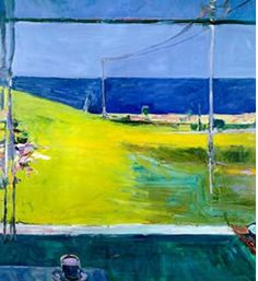 I would love to have a deibenkorn-fat chance!  Google Image Result for http://www.theartwolf.com/imagenestAW/Diebenkorn_horizon_1959.jpg