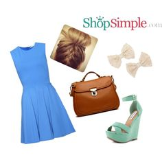 Do you love this cute outfit from ShopSimple ?  Get the dress now(US$330.00)--> http://shopsimple.com/jARBB3 Get the wedges now(US$79.99)--> http://shopsimple.com/nYnMzu