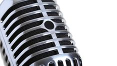 Silver old fashioned stage microphone closeup royalty-free stock photo Close Up Photography, Vintage Microphone, Illustrations, New Image, Celebrity Photos, Royalty Free Stock Photos, Stage, Silver, Dining