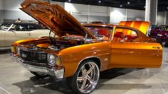 Candy Paint Jobs Orange Chevelle Ss Car Painting