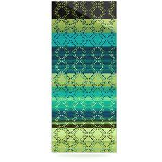 "Nina May ""Denin Diamond Gradient Green"" Turquoise Emerald Luxe Rectangle Panel"