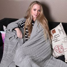 100% ORGANIC cotton cable knit throw blanket in six delightful colors - luxurious, pure, comfortable, warm, super soft, natural, eco-friendly, non GMO, vegan and durable. Best quality premium cable knit throw / blanket you can find in the market, GUARANTEED.  Cuddle up and wrap yourself in these buttery smooth and soft mid weight cable knit blanket throws in bed, on a sofa, wrap yourself while reading a book or watching TV. Take these with you when you travel, multi-purpose and supremely...