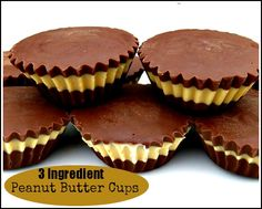 3 #Ingredient #PeanutButter Cups. It's hard to have just one!