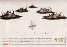 An old magazine ad from '94 promoting the best RPG ever - Final Fantasy III / VI