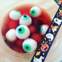 簡単!ハロウィン目玉のぷるぷる白玉 #halloween