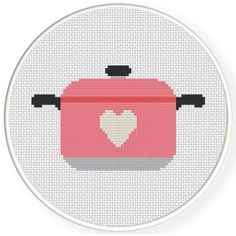 Charts Club Members Only: Casserole Love Cross Stitch Pattern