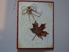 Card Corner by Candee: Autumn Leaf