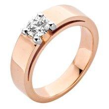 Roos 1835 18 Karaats Gouden Ring met Diamant
