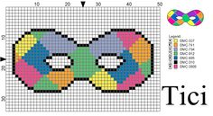 Loom Patterns, Crochet Patterns, Masquerade Party Decorations, Modele Pixel Art, Charts And Graphs, Loom Beading, Plastic Canvas, Doodle Art, Mardi Gras