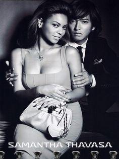 Beyonce and Takuya Kimura in Samantha Thavasa print ad