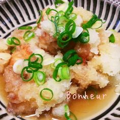 鶏肉のさっぱりおろし煮 by Bonheurさん Sushi Recipes, Meat Recipes, Asian Recipes, Chicken Recipes, Cooking Recipes, Healthy Recipes, Healthy Food, Tasty Dishes, Food Dishes