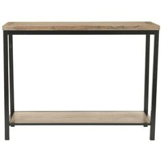 Union Rustic Jeremiah Console Table | Wayfair.co.uk Rough Wood, Wood And Metal, Solid Wood, Modern Console Tables, Sofa Tables, Teak, Into The Woods, Long Walls, Furniture Making