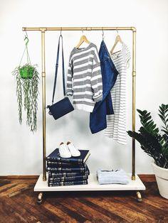 """Garderoben - Garderobe Kleiderständer Industry """"NATURAL HOOK I"""" - ein Designerstück von liebwut bei DaWanda"""