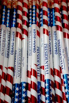 Commemorative pencils are for sale at the Presidential Inaugural Committee's store near the intersection of 11th and F Streets NW in Washington, D.C., on Jan. 11, 2013.