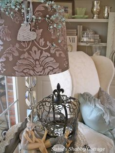 """love Sissie's pretty pretty lampshade and """"crown""""..."""