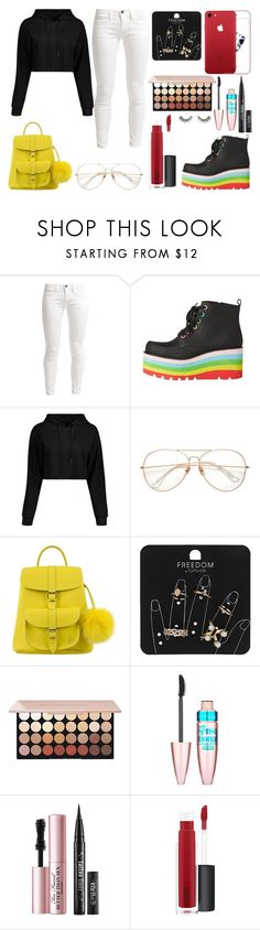"""Sin título #436"" by fiorellaap ❤ liked on Polyvore featuring Benetton, Grafea, Topshop, Maybelline, Too Faced Cosmetics, John Lewis and Velour Lashes"
