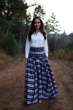 Candy Cane Maxi Skirt by Shabby Apple