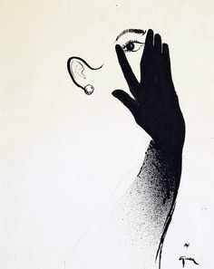 The Black Glove, by Renè Gruau, ca.1950