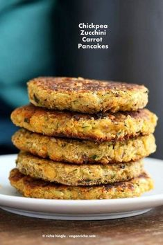 Carrot Zucchini Chickpea Fritters Vegan Recipe Vegan Richa - Carrot Zucchini Chickpea Fritters Vegan Recipe Eggless Nut Free Yeast Free Can Be Made Gluten Free Cooked Chickpeas Shredded Veggies And Turkish Spices Use Other Spices Or Blends Of Choice Use # Menu Vegan, Healthy Vegan Dessert, Vegan Vegetarian, Vegetarian Recipes, Paleo, Healthy Recipes, Vegan Chickpea Recipes, Vegan Zucchini Recipes, Free Recipes