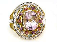ON SALE NOW:  Amethyst Pink & Blue Topaz Multicolor Ring 10k yellow gold  http://donnatsjewelry.com/Gold-Rings-Gemstone-Rings/c64_70/p4776/Amethyst-Pink-&-Blue-Topaz-Multicolor-Ring-10k-yellow-gold/product_info.html #colored gemstone ring #multi gemstone ring #right hand rings #donnatsjewelry #pink topaz #blue topaz #diamonds #amethyst