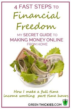 4 Fast Steps to Financial Freedom: How to make money online from home making a full time income with part time hours. See for yourself the ways our team will aid you in finding the best solution to create a freedom.