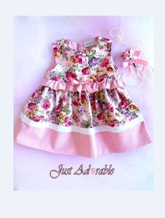 Baby clothes Vintage style baby Dress Pink by JustAdorablebyClaire