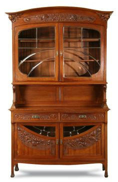 "Art Deco French Vitrine- will make this into a bar. 96""h x 58""w x 23""d."