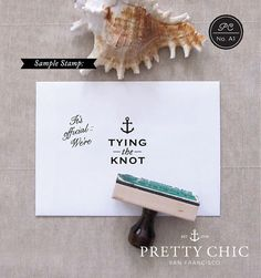 Nautical Stamp  Tying the Knot  Custom Stamp by prettychicsf, $33.00
