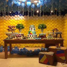 Decoração linda para festa Menino Maluquinho por @efestta, adorei!  #kikidsparty