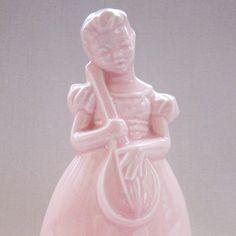 Vintage Ceramic Figurine Pink Girl Holding a Lute by ClockWinder, $9.00 Apple Head Dolls, Vintage Ceramic, Pink Girl, Etsy Store, Retro Fashion, Retro Vintage, Perfume Bottles, Pink Stuff, Ceramics