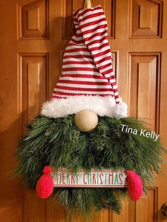 Adorable in every way, YOU can create a DIY Christmas Gnome with a Unique in the Creek triangle wreath board TODAY! Get ready to decorate your home with this adorable DIY santa gnome like this one by Christmas Gnome, Outdoor Christmas, Christmas Projects, Christmas Holidays, Christmas Ornaments, Christmas Trees, Diy Christmas Wreaths, Winter Wreaths, Spring Wreaths