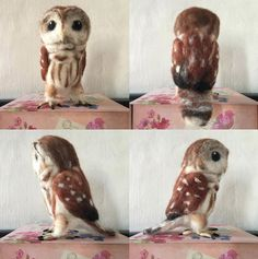 Beautiful Needle felting wool cute animals owl (Via @hansugarhippie)