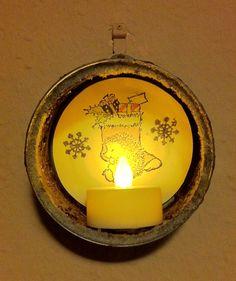 Annies DIY: Türchen Nr.16 Windlichthalter Upcycling Candle DIY Weihnachten XMAS