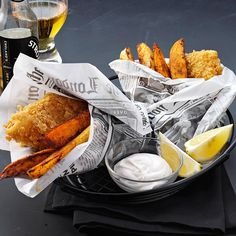 "Crispy Beer Battered Fish Recipe -A local restaurant made a similar breading for shrimp po' boys, but we think this version's better. I serve it with a ranch dressing and hot sauce mixture as a dip. —Jenny Wenzel, Gulfport, Mississippi<br> <a href=""/recipes/roasted-russet---sweet-potato-wedges"">Roasted Russet & Sweet Potato Wedges Recipe ></a>"