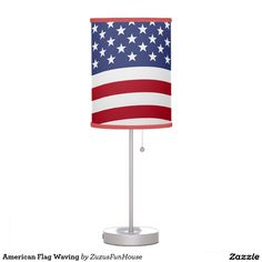 American Flag Waving Desk Lamp