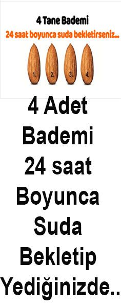 4 Adet Suda Bekletilmiş Bademi Tüketin!!! Mucizeye İnanamayacaksınız Viera, Healthy, Amigurumi, Beauty Secrets, Almonds, Tips, Kids, Health