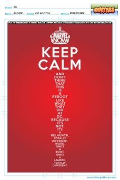 Marvel Now - Keep Calm via The Gutters