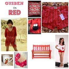 Gusben en Rojo, indumentaria, decoracion, Bijouterie