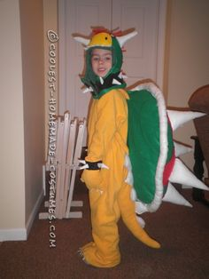 Coolest DIY Bowser Costume from Super Mario Bros... This website is the Pinterest of costumes  sc 1 st  Pinterest & Coolest Homemade Bowser Jr. Costume | Pinterest | Mario costume ...