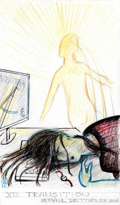 Tarot, Major Arcana XIII Transition, illustrator Paul…