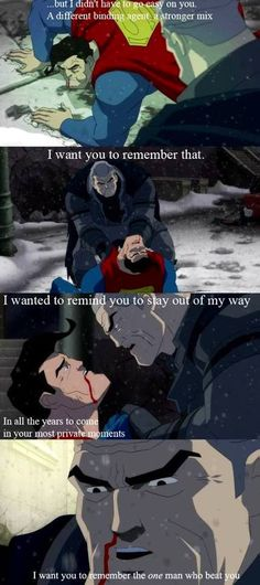 """Batman : Movies : Batman The Dark Knight Returns Superman : """"I want you to remember."""" - and this is why batman will always be my ultimate badass"""
