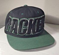 Green Bay Packers Snapback Hat Cap Wide Brim Football Green Black Yellow NFL Vtg #MitchellNess #BaseballCap