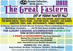 The Great Eastern End of Season Scooter Rally, 16th, 17th & 18th November