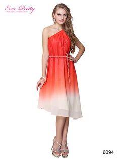Ever Pretty One Shoulder Stretchy Belted Asymmetric Hem Casual Dress