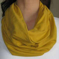 Mustard Infinity Scarf by SYGBoutique on Etsy, $15.00