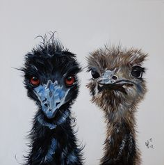 """""""I'm sick of running around with this mob Charlie, they have no direction!"""" by Julie Hollis. Paintings for Sale. Quirky Art, Weird Art, Run Around, Australian Artists, Acrylic Painting Canvas, Paintings For Sale, Online Art Gallery, Pet Birds, Original Art"""