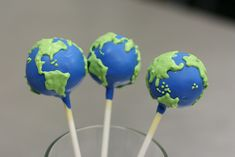 Planet Earth Cake Pops by Sweet Lauren Cakes, via Flickr