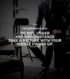 The Gentleman's Guide #11
