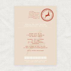 reindeer express christmas party invitation - printable file - editable. $10.00, via Etsy.