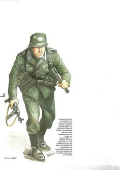 German infantryman in Greece campaign. Ww2 History, World History, World War, German Army, Military Art, Master Chief, Greece, Battle, Campaign